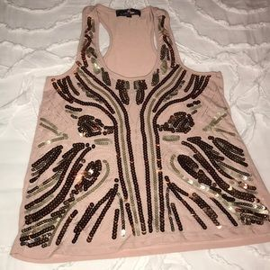 Sequined tank top!